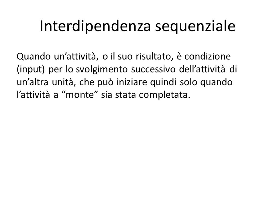 Interdipendenza sequenziale