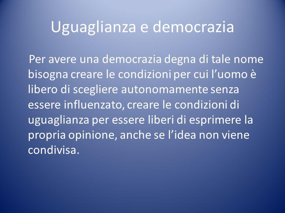 Uguaglianza e democrazia