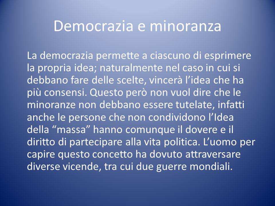 Democrazia e minoranza