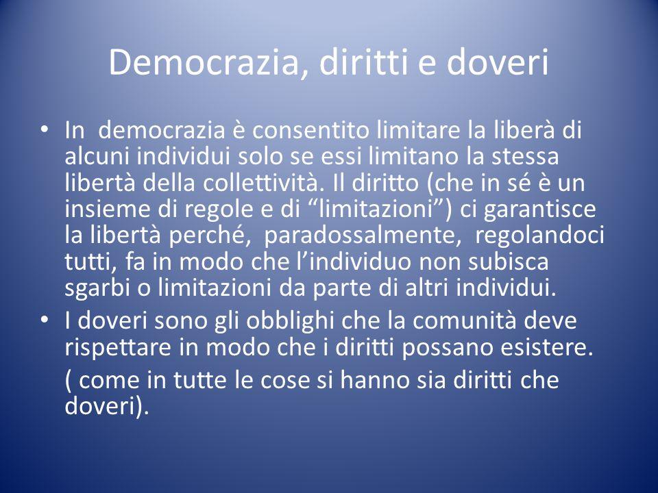 Democrazia, diritti e doveri