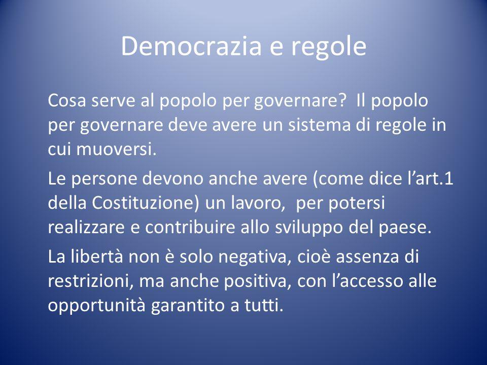 Democrazia e regole