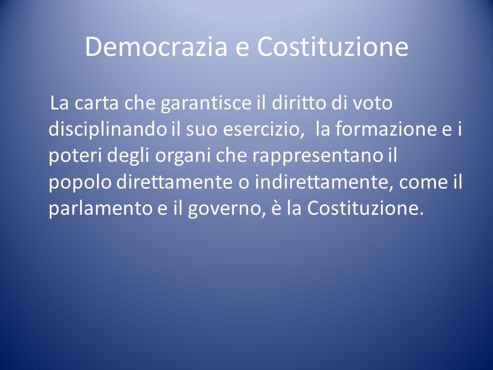 Democrazia e Costituzione