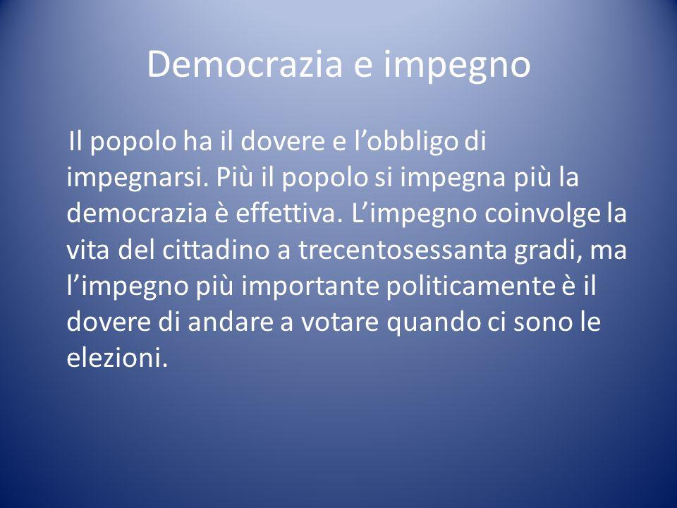 Democrazia e impegno