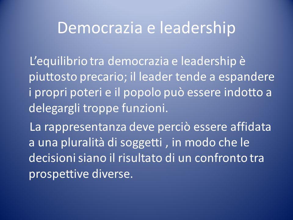 Democrazia e leadership