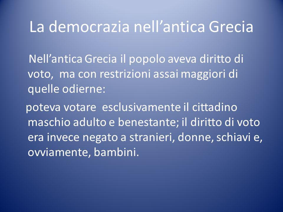 La democrazia nell'antica Grecia