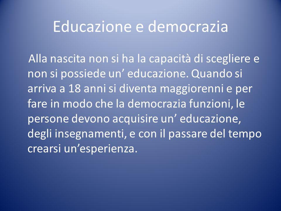 Educazione e democrazia
