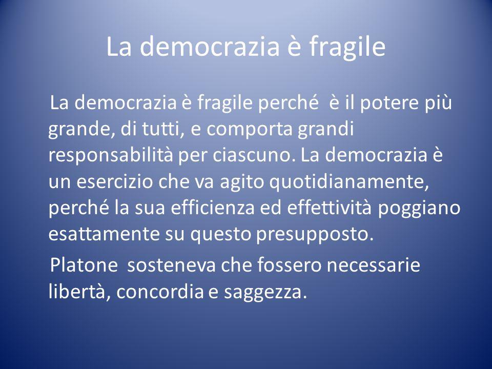 La democrazia è fragile