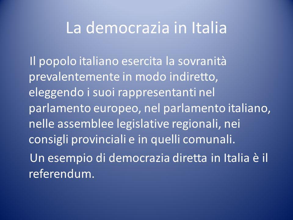 La democrazia in Italia