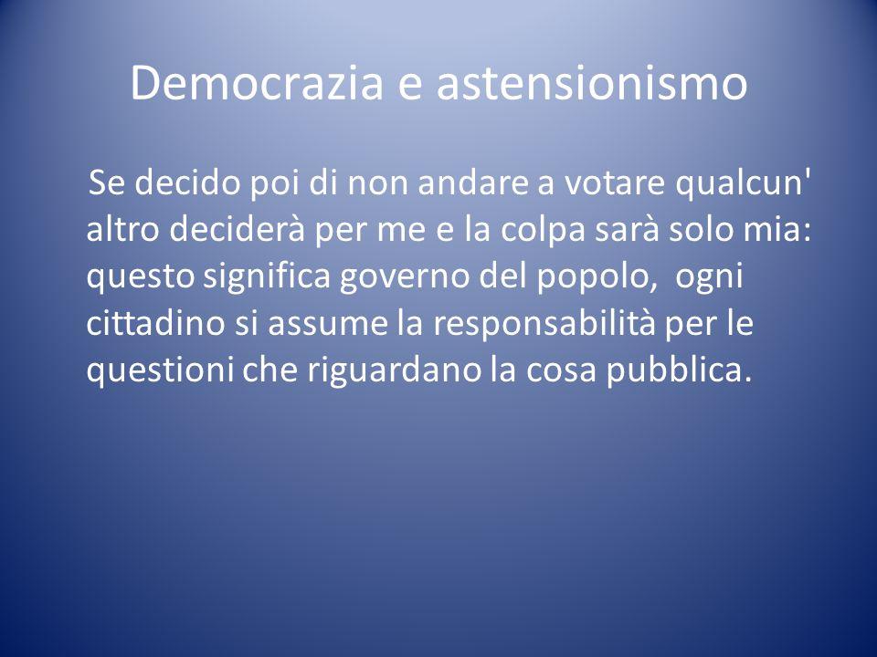 Democrazia e astensionismo
