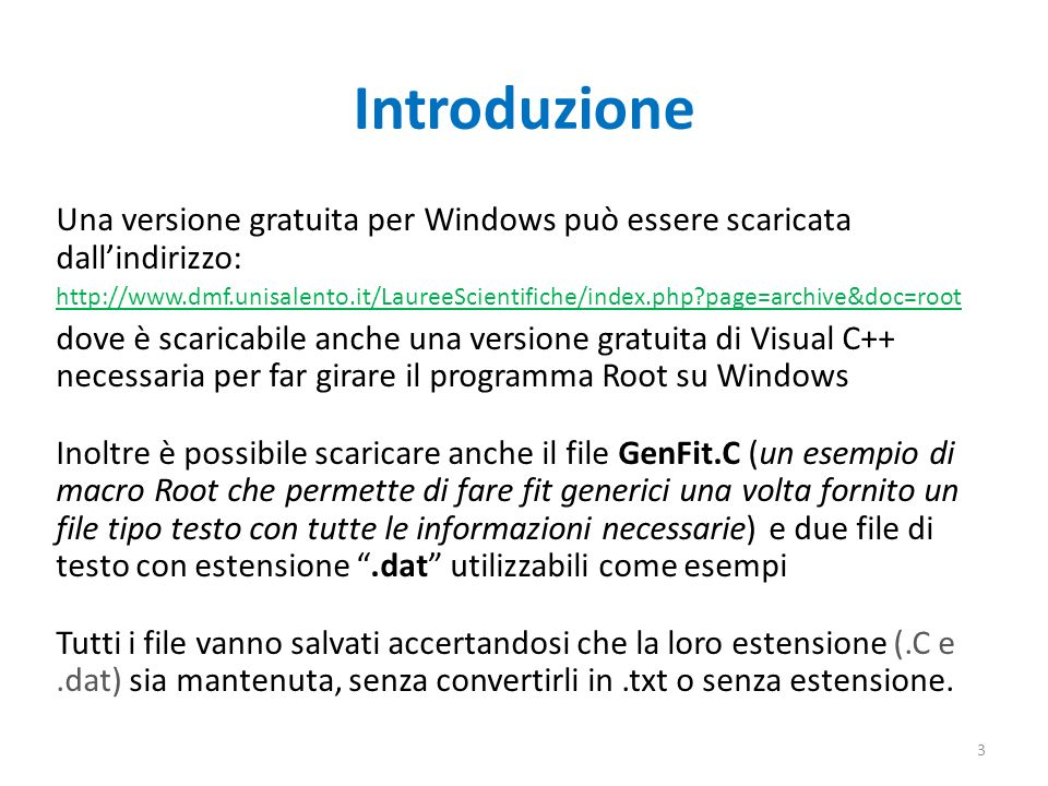 Introduzione Una versione gratuita per Windows può essere scaricata dall'indirizzo: