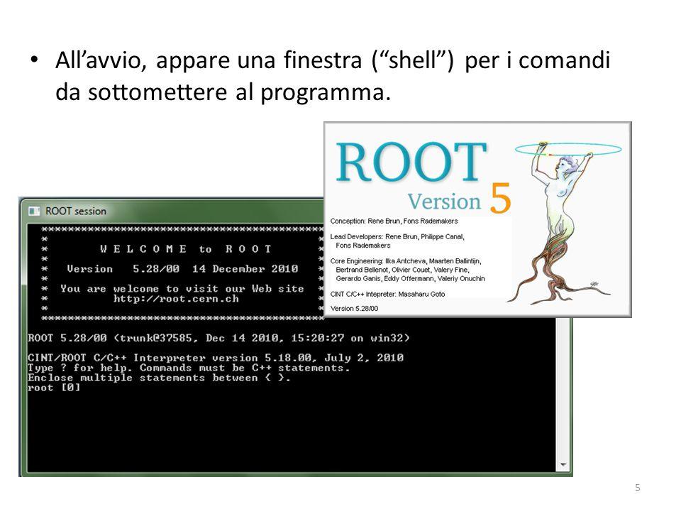 All'avvio, appare una finestra ( shell ) per i comandi da sottomettere al programma.