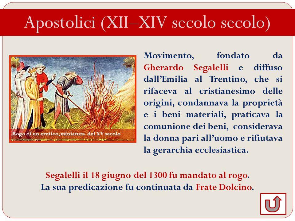 Apostolici (XII–XIV secolo secolo)
