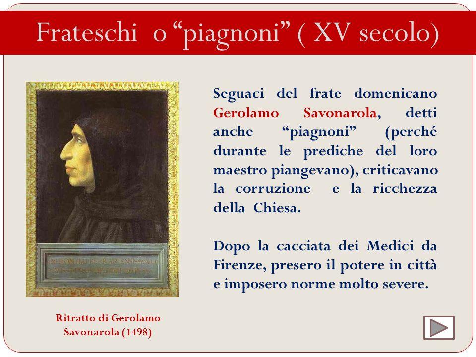 Ritratto di Gerolamo Savonarola (1498)