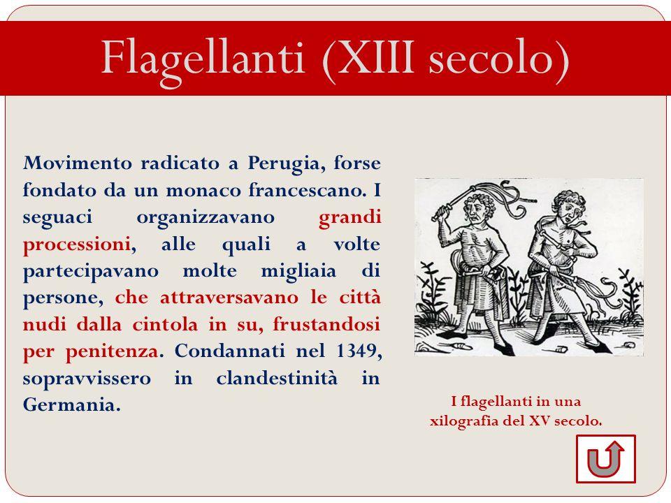 I flagellanti in una xilografia del XV secolo.