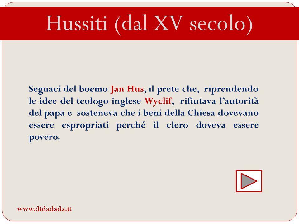 Hussiti (dal XV secolo)