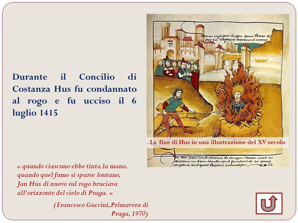 La fine di Hus in una illustrazione del XV secolo