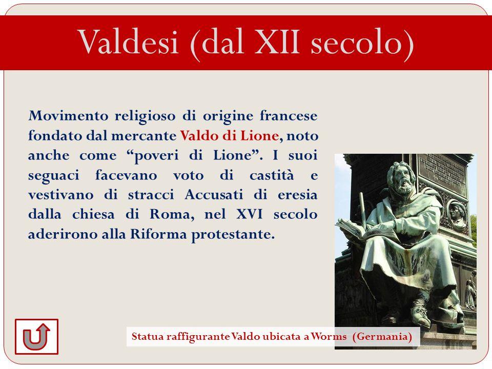 Valdesi (dal XII secolo)