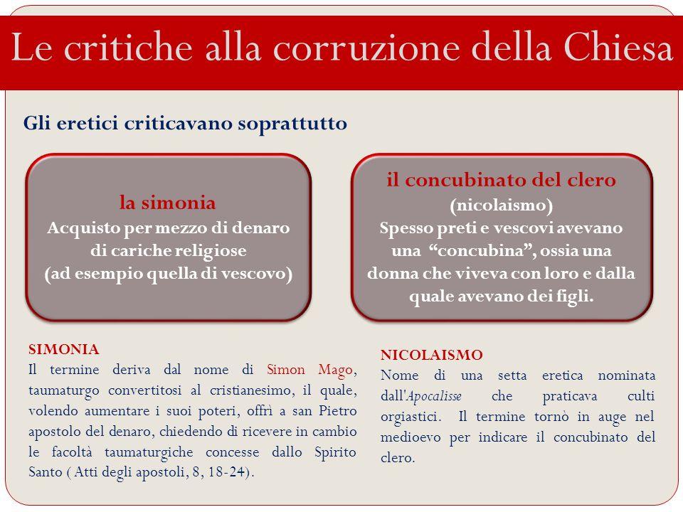 Le critiche alla corruzione della Chiesa