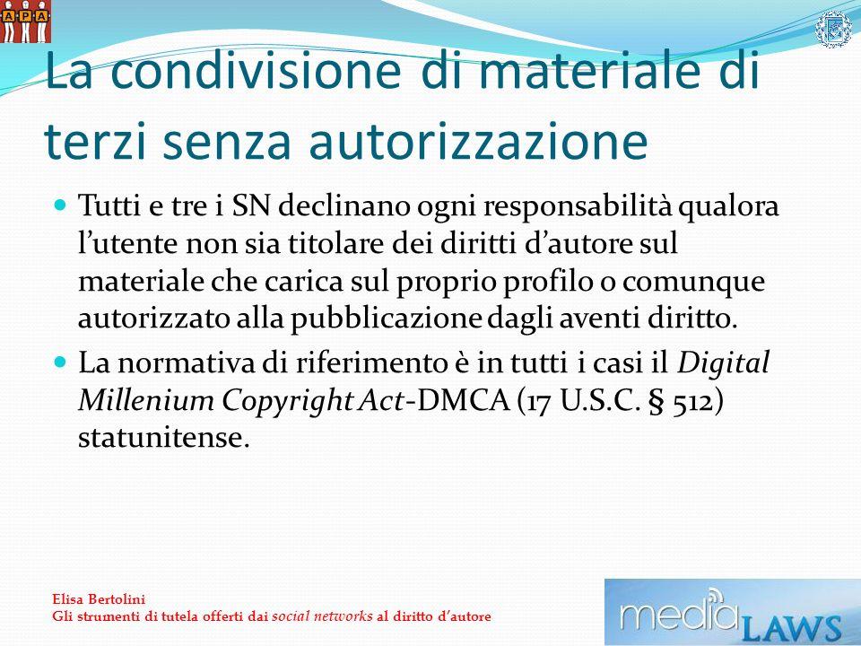 La condivisione di materiale di terzi senza autorizzazione