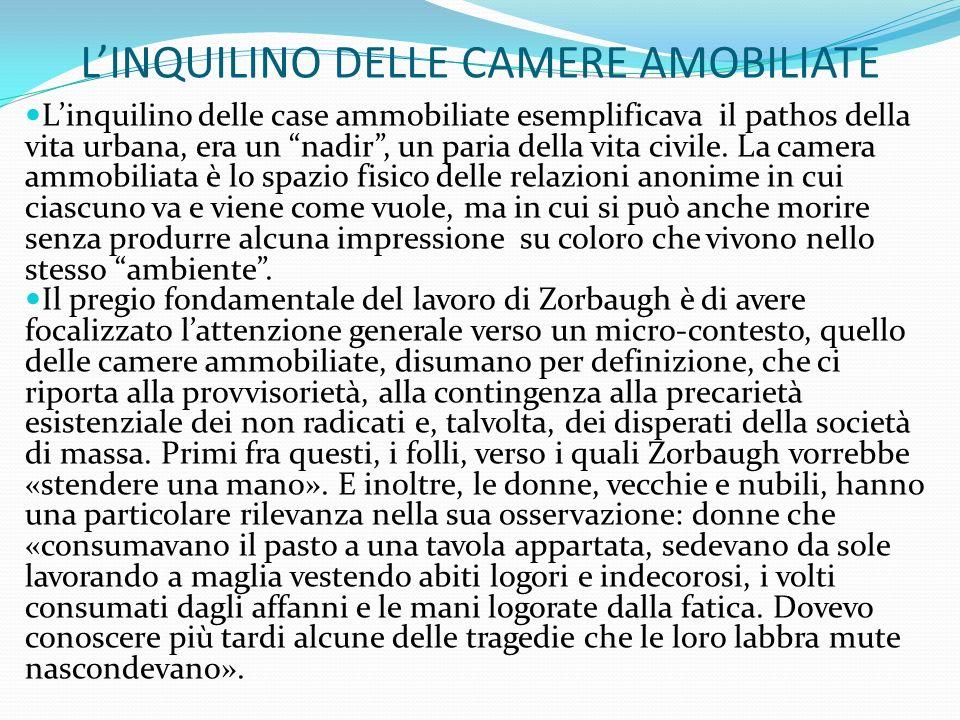 L'INQUILINO DELLE CAMERE AMOBILIATE