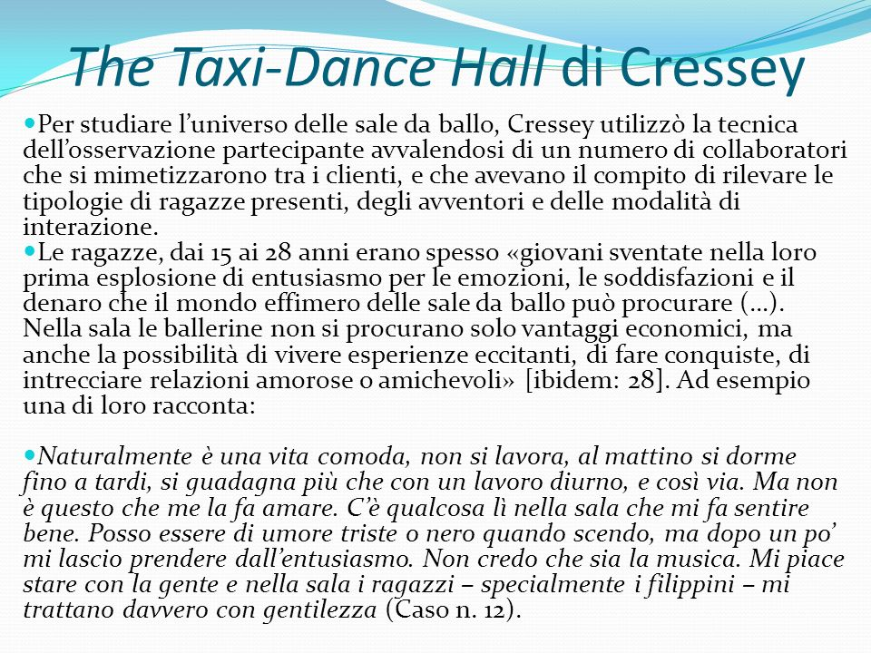 The Taxi-Dance Hall di Cressey