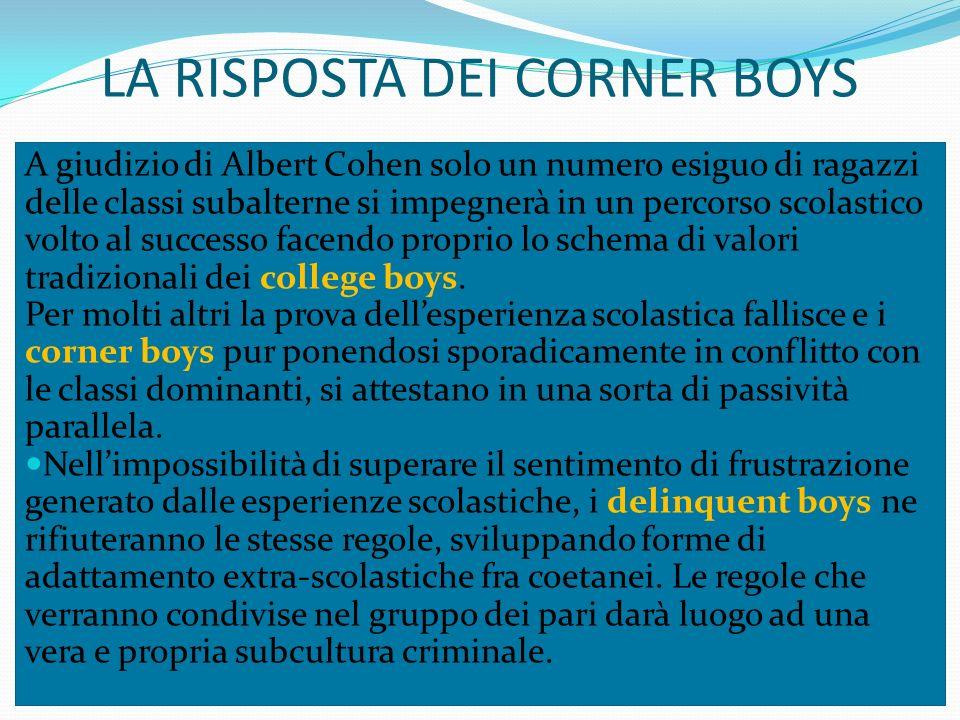 LA RISPOSTA DEI CORNER BOYS