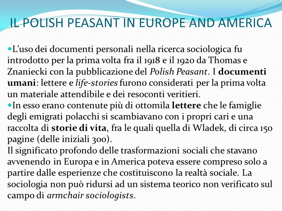 IL POLISH PEASANT IN EUROPE AND AMERICA