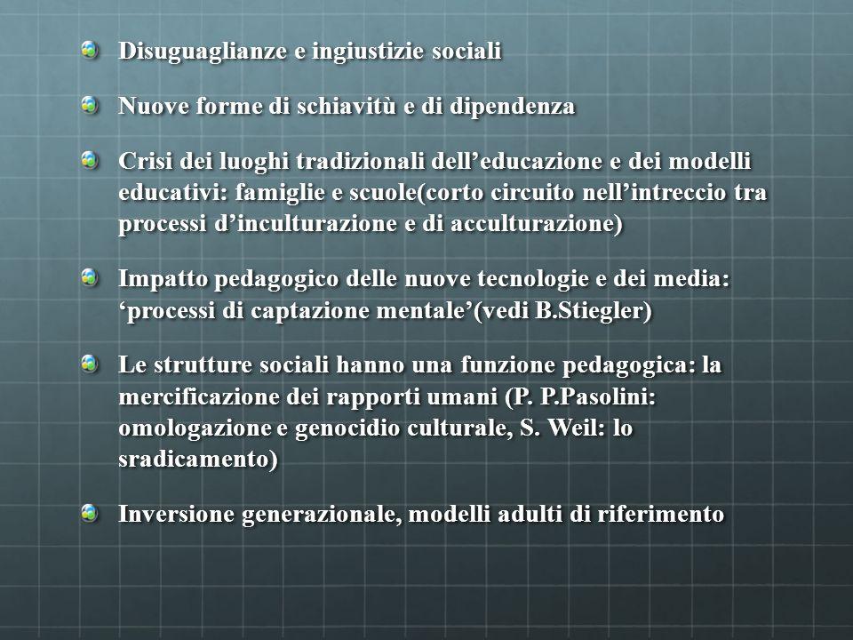 Disuguaglianze e ingiustizie sociali