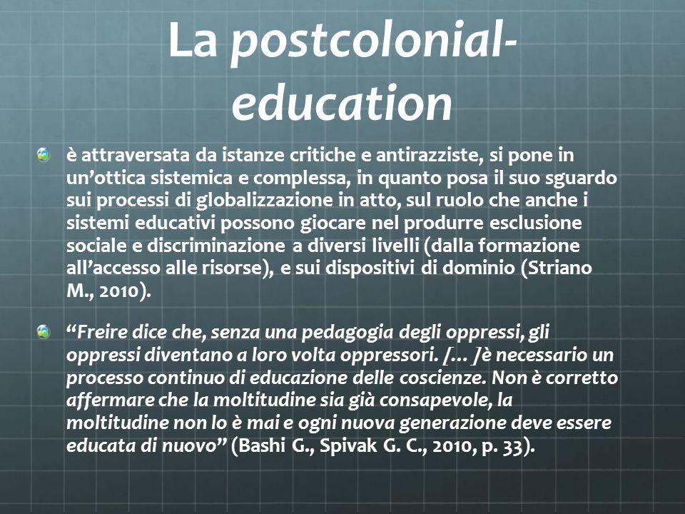 La postcolonial-education