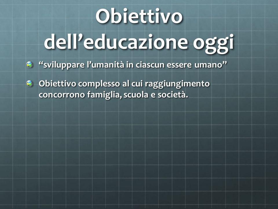 Obiettivo dell'educazione oggi