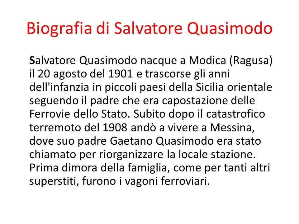 Biografia di Salvatore Quasimodo