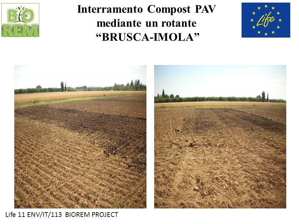 Interramento Compost PAV mediante un rotante BRUSCA-IMOLA