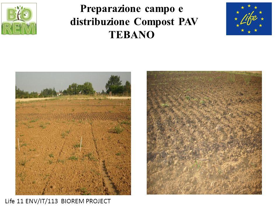 Preparazione campo e distribuzione Compost PAV TEBANO