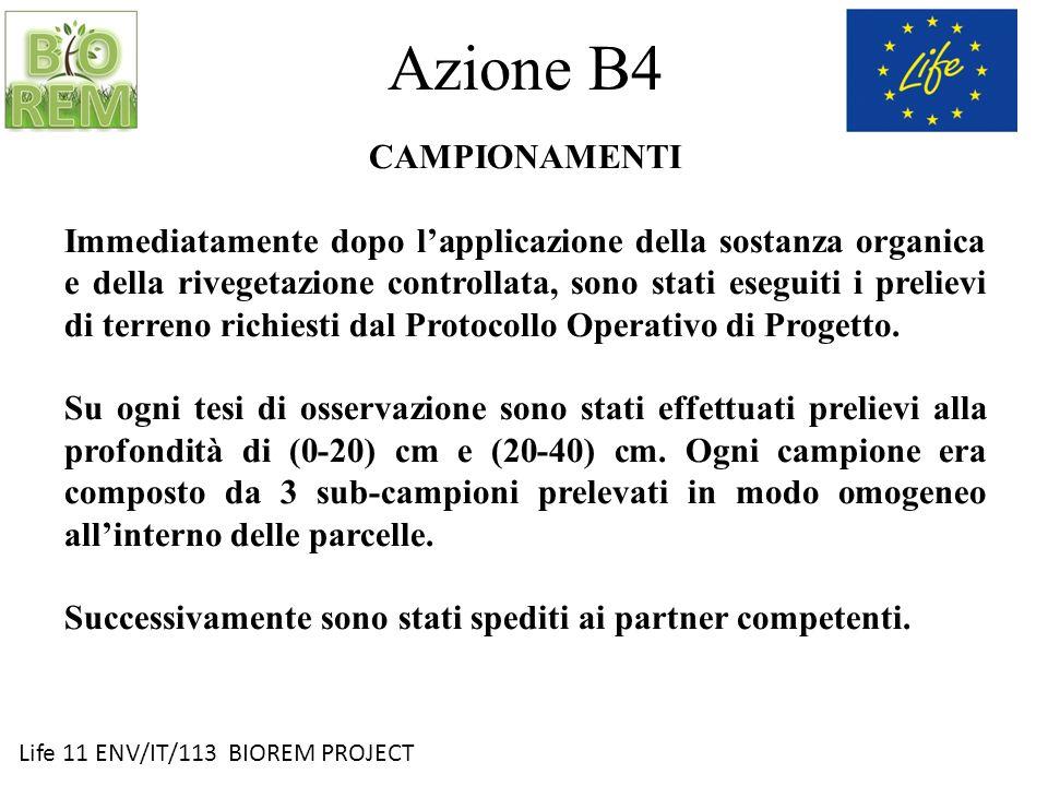 Azione B4 CAMPIONAMENTI