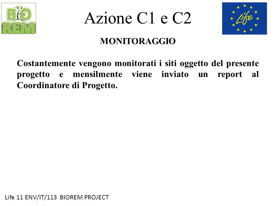 Azione C1 e C2 MONITORAGGIO