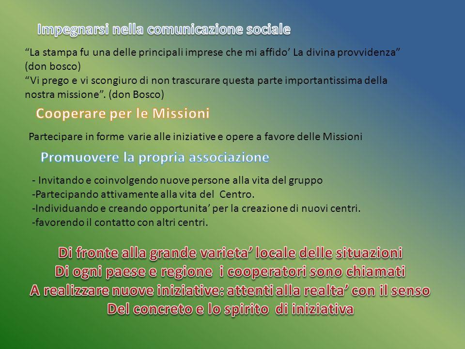 Impegnarsi nella comunicazione sociale