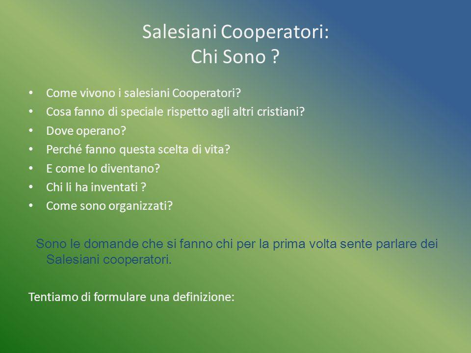 Salesiani Cooperatori: Chi Sono