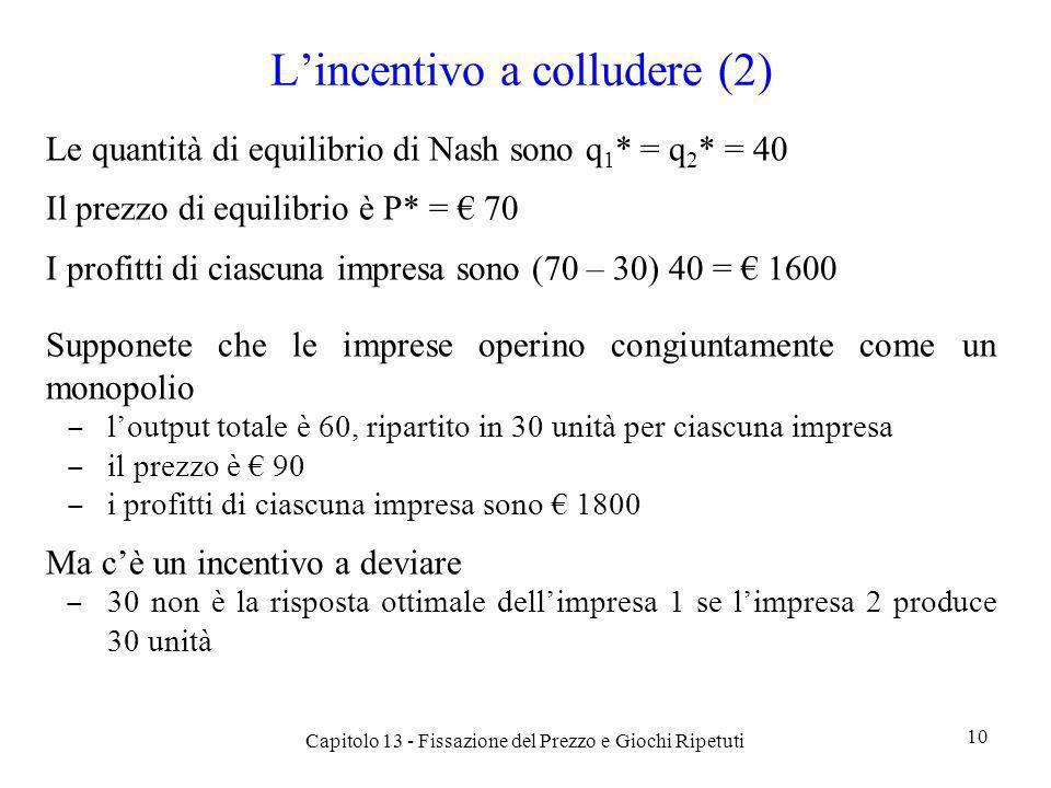 L'incentivo a colludere (2)