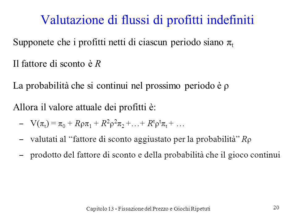Valutazione di flussi di profitti indefiniti