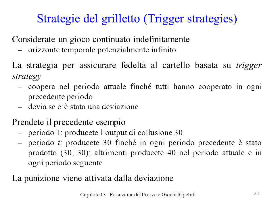 Strategie del grilletto (Trigger strategies)