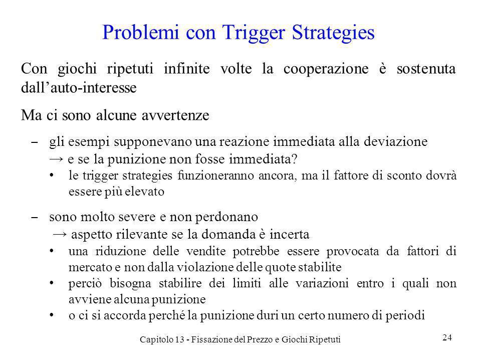 Problemi con Trigger Strategies