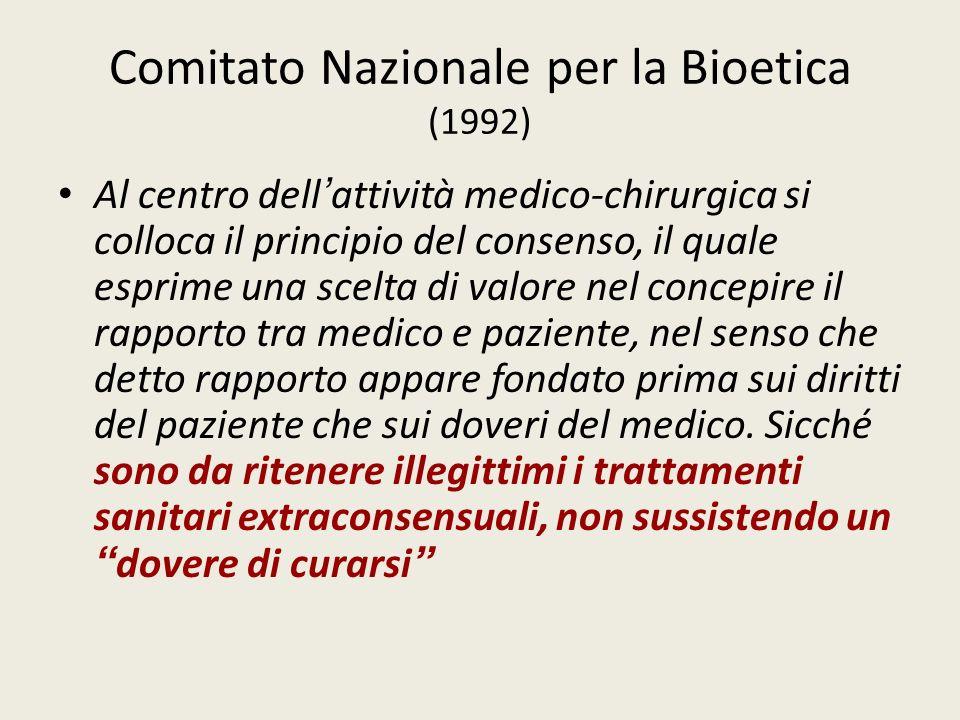 Comitato Nazionale per la Bioetica (1992)