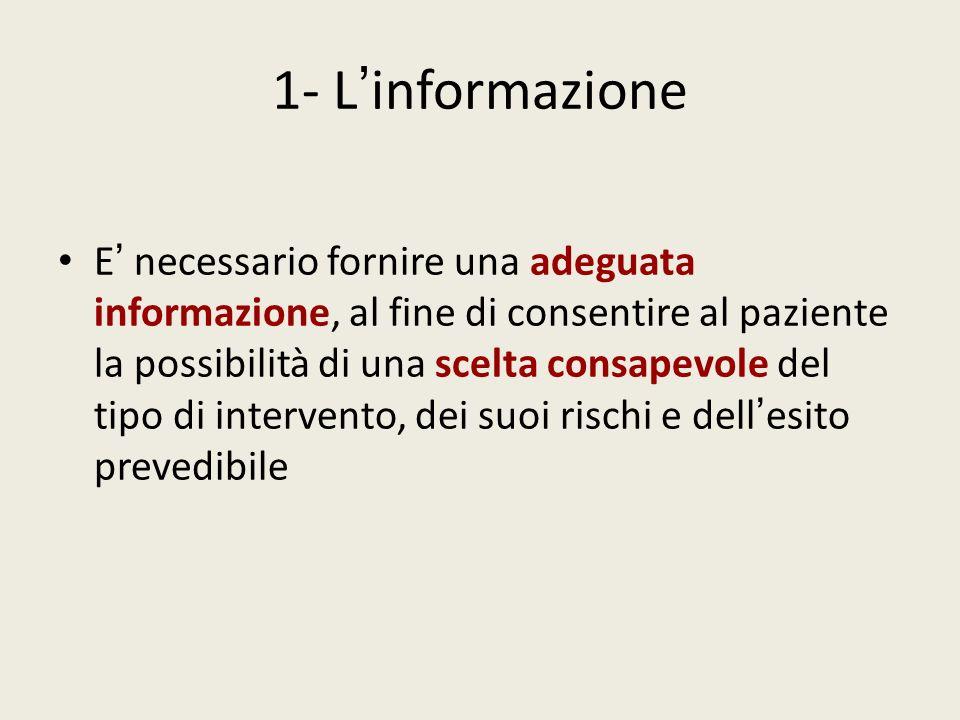 1- L'informazione