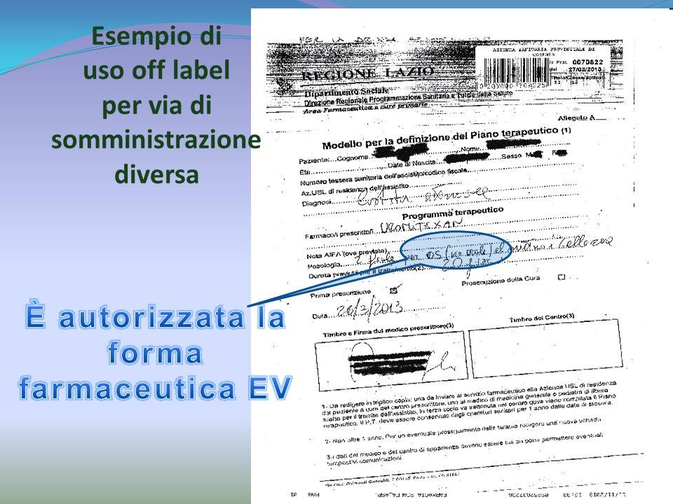 È autorizzata la forma farmaceutica EV
