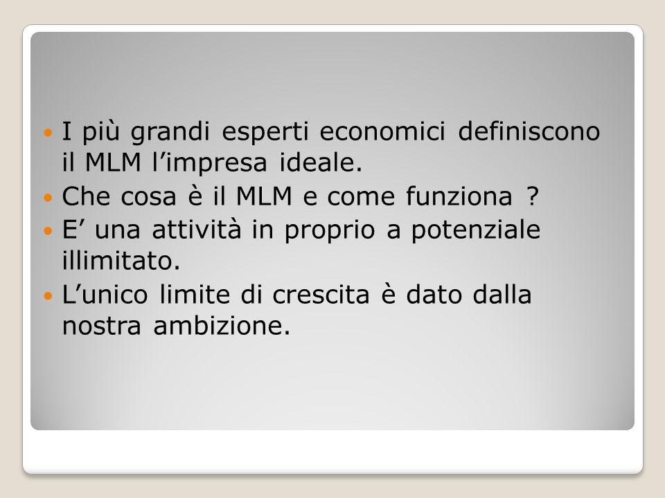 I più grandi esperti economici definiscono il MLM l'impresa ideale.