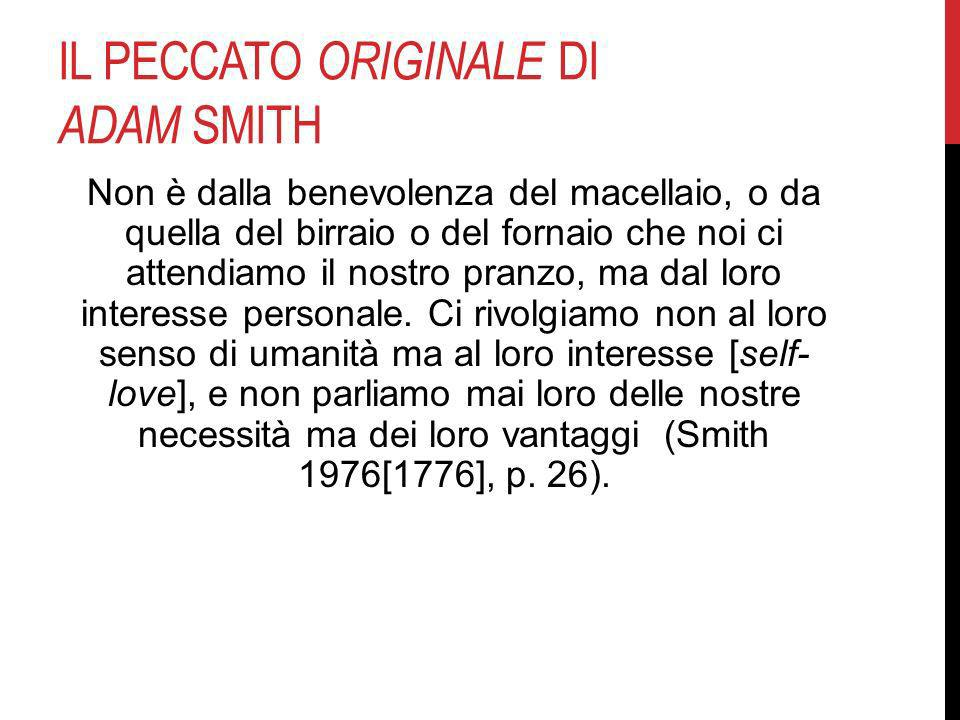 Il peccato originale di Adam Smith