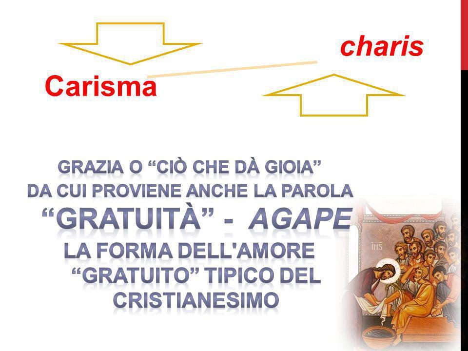 charis Carisma la forma dell amore gratuito tipico del cristianesimo