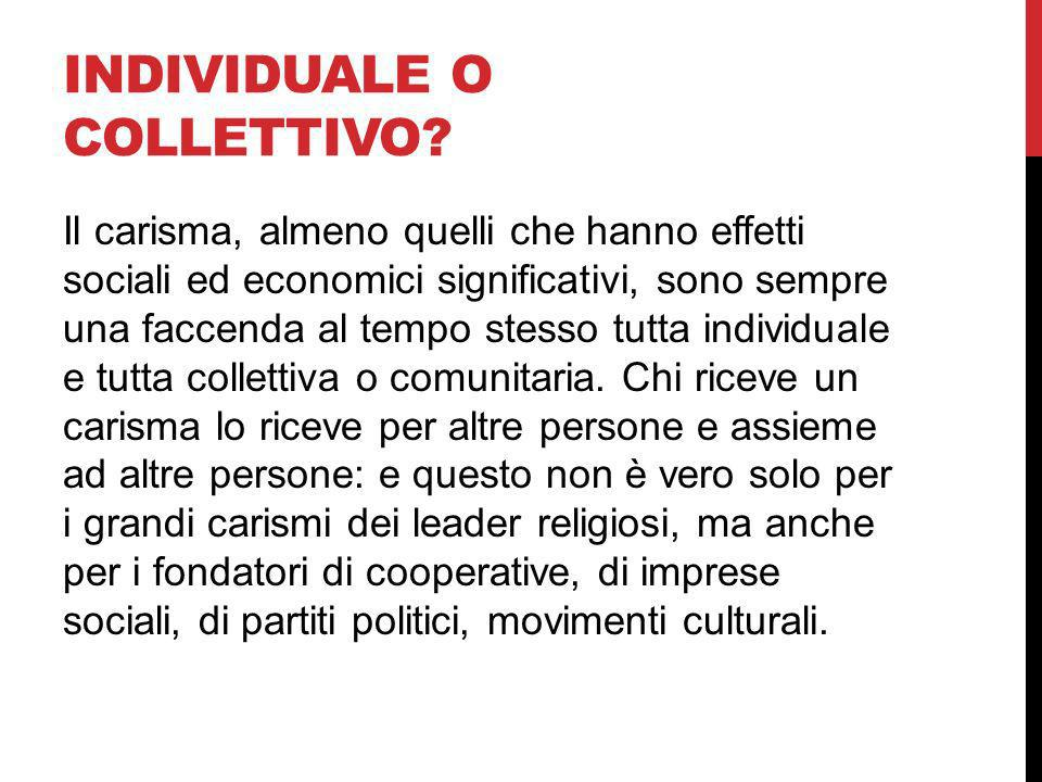 Individuale o collettivo