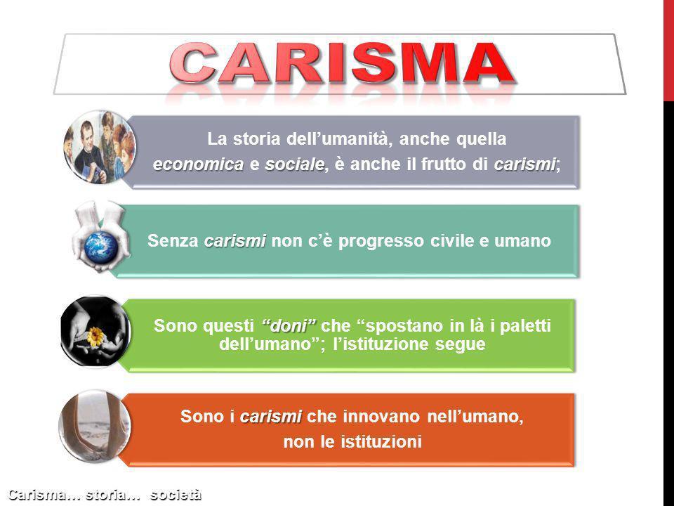carisma La storia dell'umanità, anche quella