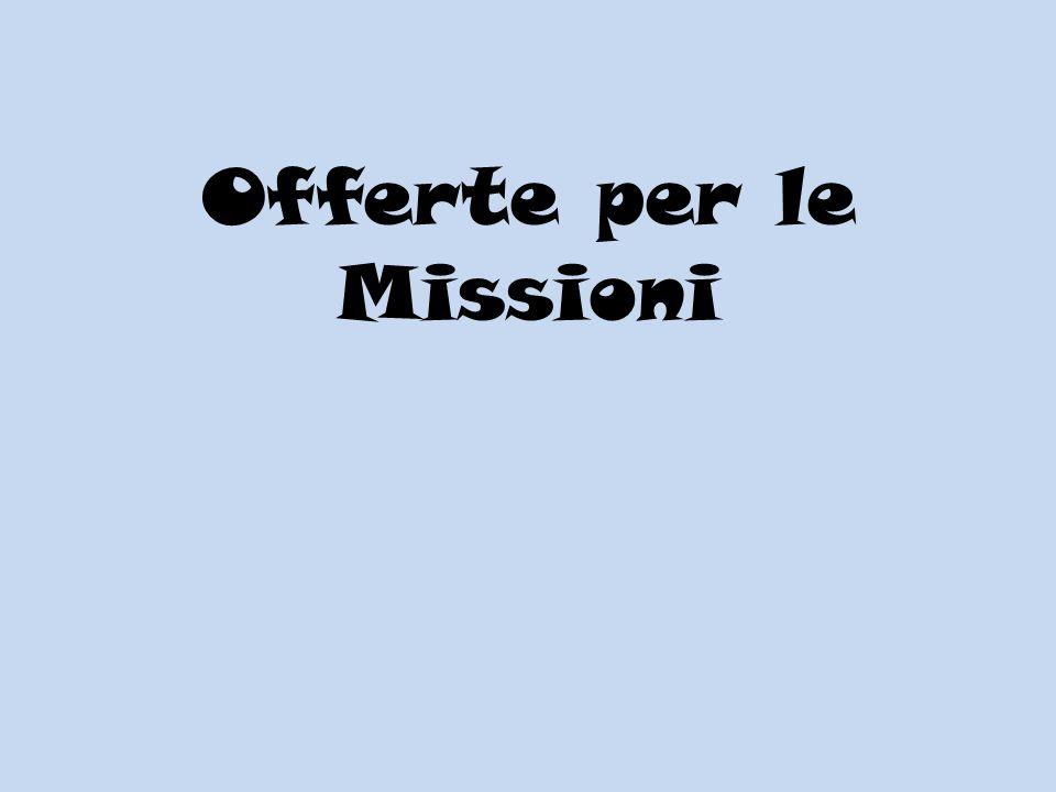 Offerte per le Missioni